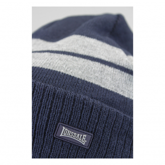 LONSDALE London Turn Up Hat Beanie Dunkelblau